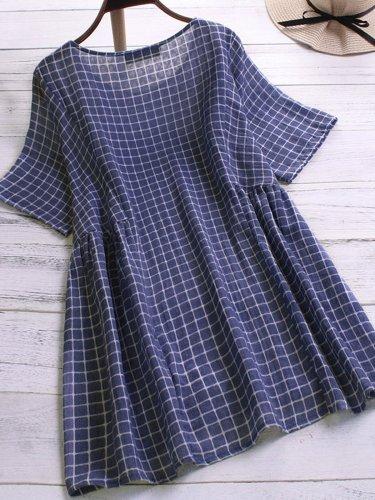 Patchwork Cotton-Blend Shirts & Tops
