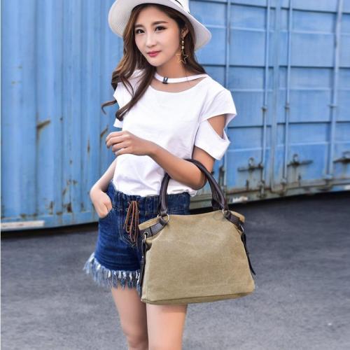 Vintage Casual Handbags Canvas Ladies Shoulder Bag Large Capacity Multi-layer Bags