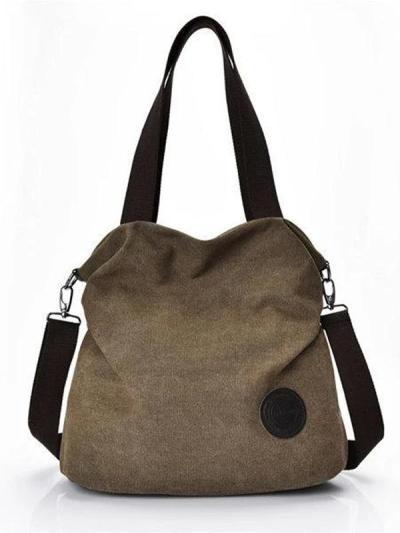 Large Capacity Casual Canvas Handbag Outdoor Shoulder Bag