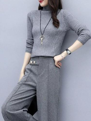 Temperament Comfortable Trend Knitting Unlined Upper Garment / Sweater