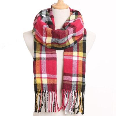 Winter Scarf Women Plaid Scarf Warm Designer Triangle Cashmere Shawls Women's Scarves