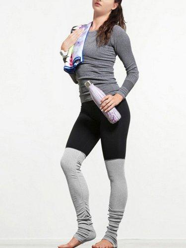 Multi Color Sports Breathable Paneled Thread Legging