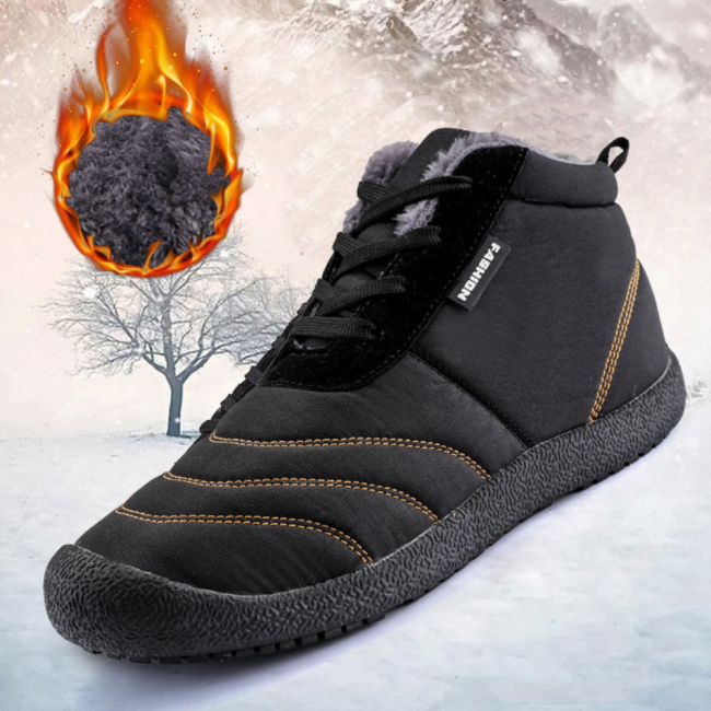 Women's Warm Fur Lined Ankle Lace-up Winter Snow Boots