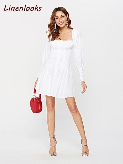Sexy Off Shoulder White Tunic Long Sleeve Shirt Party Dress