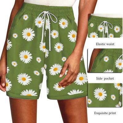 Summer Floral Print Bandage Casual Trouser Shorts Spodenki Damskie Pantalones Cortos Shorts