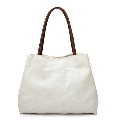 Large-Capacity Shoulder Bag Casual Canvas Female Bag