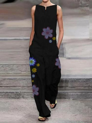 Floral Printed Shift Holiday Jumpsuit