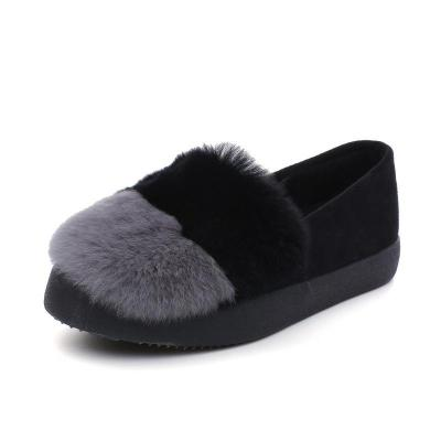 Women Cony Hair Winter Casual Platform Loafers