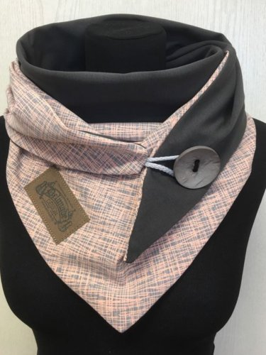Pink Casual Buttoned Scarves & Shawls