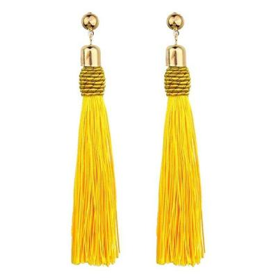 Colorful Long Tassel Big Statement Bohemian Earrings
