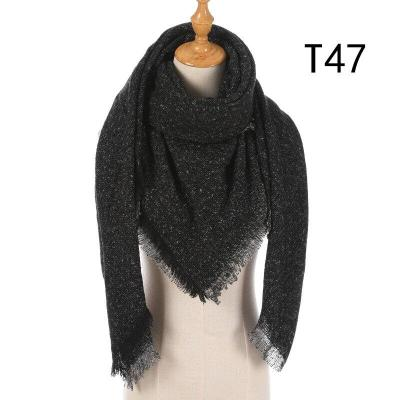 Winter Striped Plaid Warm Cashmere Scarves Shawls