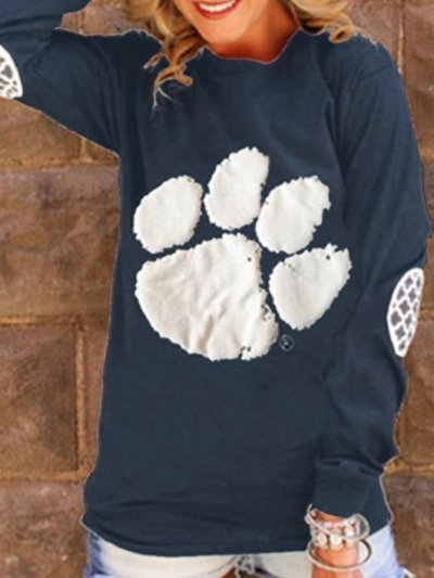 Long Sleeve Cotton Sweet Crew Neck T-Shirts