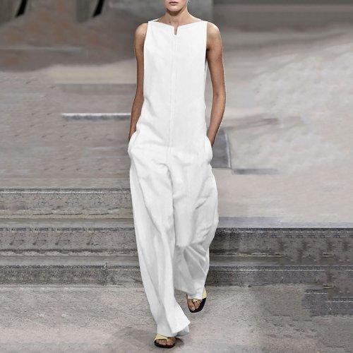 Fashion Plain Long Sleeve Jumpsuits