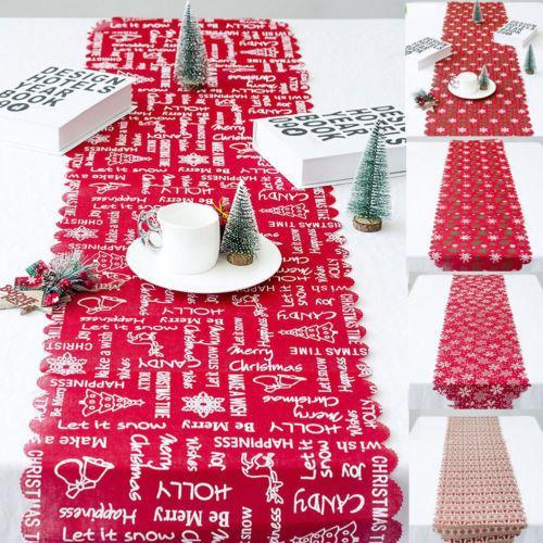 Linen Christmas Home Table Decor Tablecloth