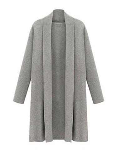 Women's Open Front Trench Coat Long Cloak Cardigan