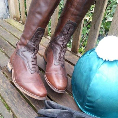 Women Color-block Riding Boots Low Heel Pu Boots