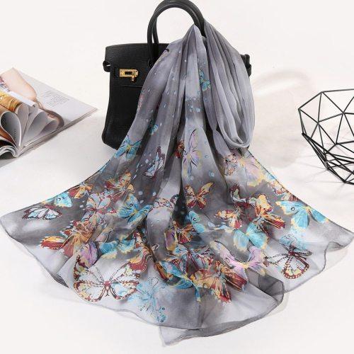 160*50cm Women Scarf Butterfly Chiffon shawl Air Conditioning Chiffon Shawls