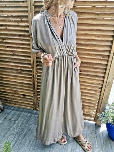 Bohemian holiday Solid dress