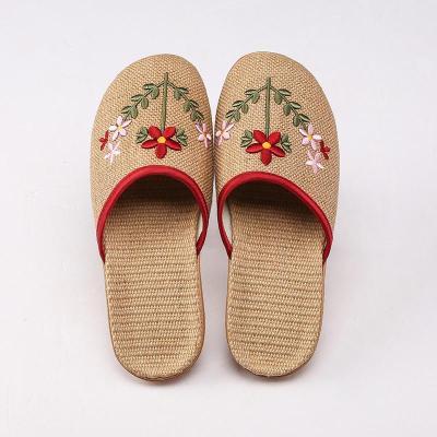 Linen Slippers Women's Home Indoor Slippers Summer