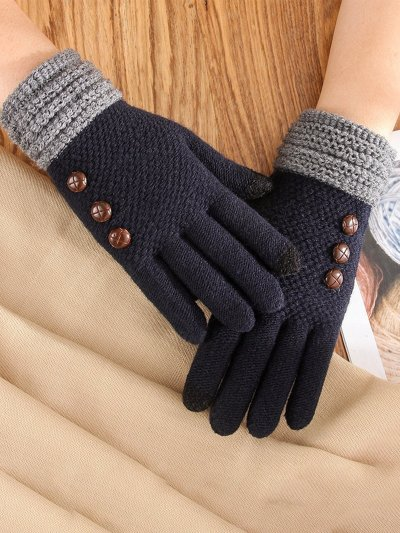 Sewing Gloves with Button