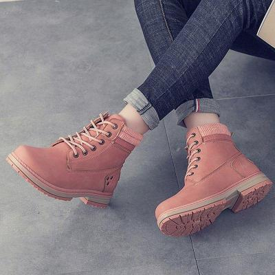 Women Autumn Winter Fur Ankle Boots Waterproof Slip on Shoes Snow Boots