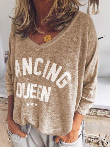 Long Sleeve Solid Sweet Shirts & Tops
