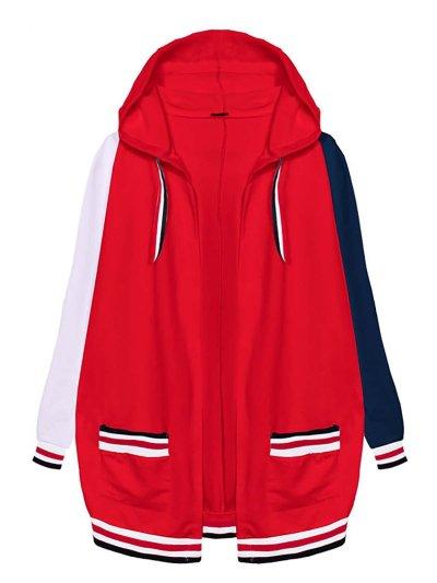 Hoodie Casual Patchwork Coat