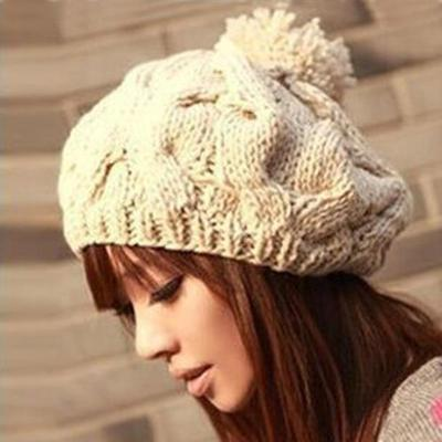 New Korean Version of The Pumpkin Hat Hand-knitted Hats Autumn and Winter Wool Cap,