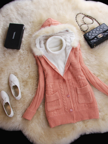 Casual Knitted Patchwork Paneled Long Sleeve Sweaters