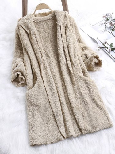 Fleece Fuzzy Sherpa Coat Cashmere Pockets Teddy Bear Coats