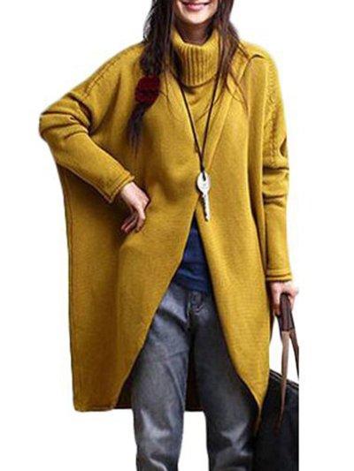 Casual Turtleneck Asymmetrical Long Sleeve Sweater