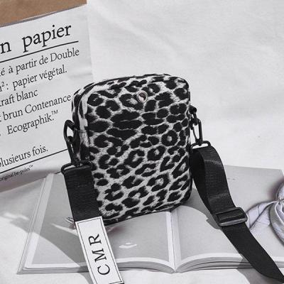Women Leopard Zipper Casual Handbags