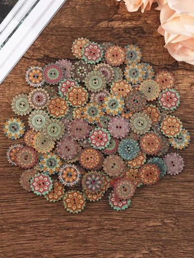 Bohemia Printed Wooden Sewing Buttons