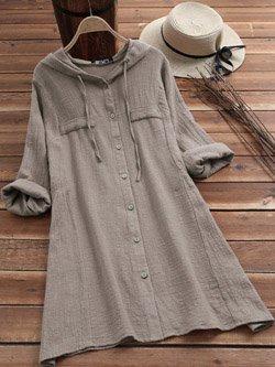 Women's Long Sleeve Hooded Dress