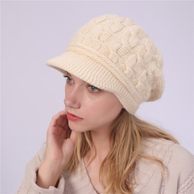 Winter Women's Knitted Hat Peaked Caps Beanie Hat Ladies Warm Slouchy Cap Crochet Ski Beanie Hat Female Baggy Skullies Beanies