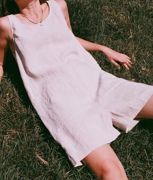 Sleeveless Solid Linen Jumpsuits