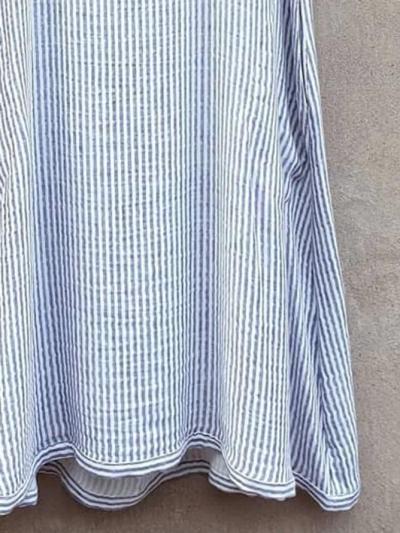 Striped Pockets Mini Dress Plus Size Summer Dresses