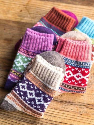 Thick warm Wool-blend Socks