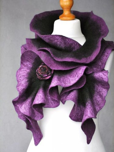 Blue Casual Cotton-Blend Ombre/tie-Dye Scarves & Shawls