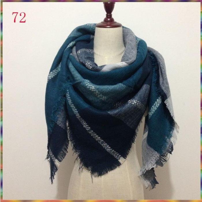 2020 new design Fashion Women Winter Warm yarns square blanket Scarf Soft Shawl Scarves Wraps