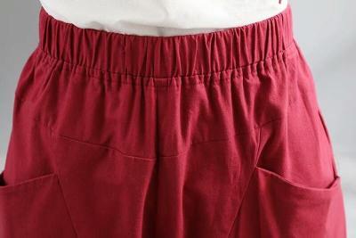 Summer Casual Cotton Pockets Pants