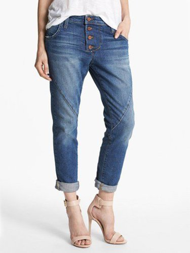 Casual Plus Size Jeans With Pockets