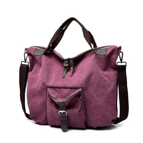 Casual Multi-layer Slung Canvas Women's Bag