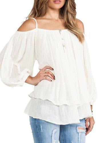 White Sweet Cotton Shirts & Tops