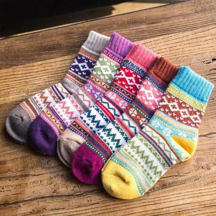 Thick warm Wool-blend Socks