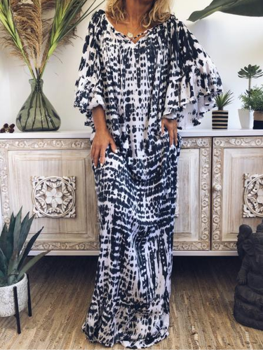Cotton-Blend Casual Short Sleeve Dresses