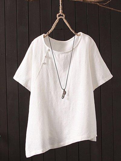 Short Sleeve Round Neck Plus Size Tops