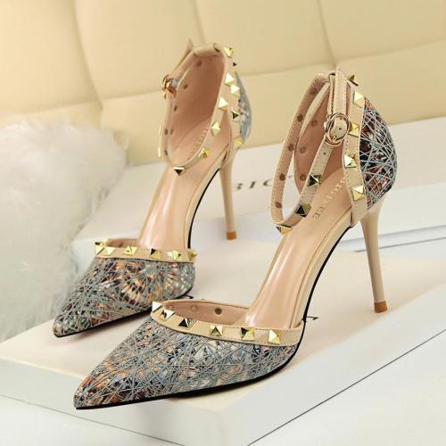 Women Fashion Summer Sequined Sexy Wedding Sandals High Heels Pumps
