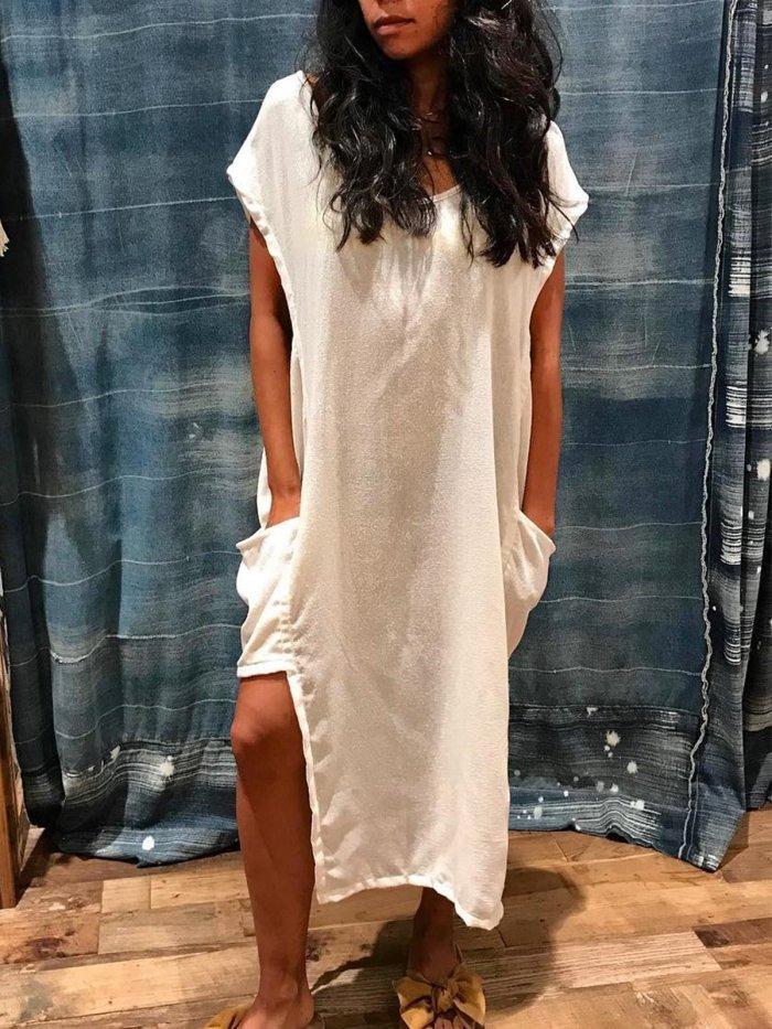 Women large size Cotton dresses