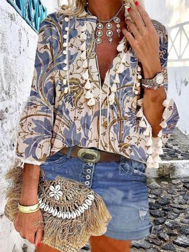 Printed Floral Boho Shirts & Tops